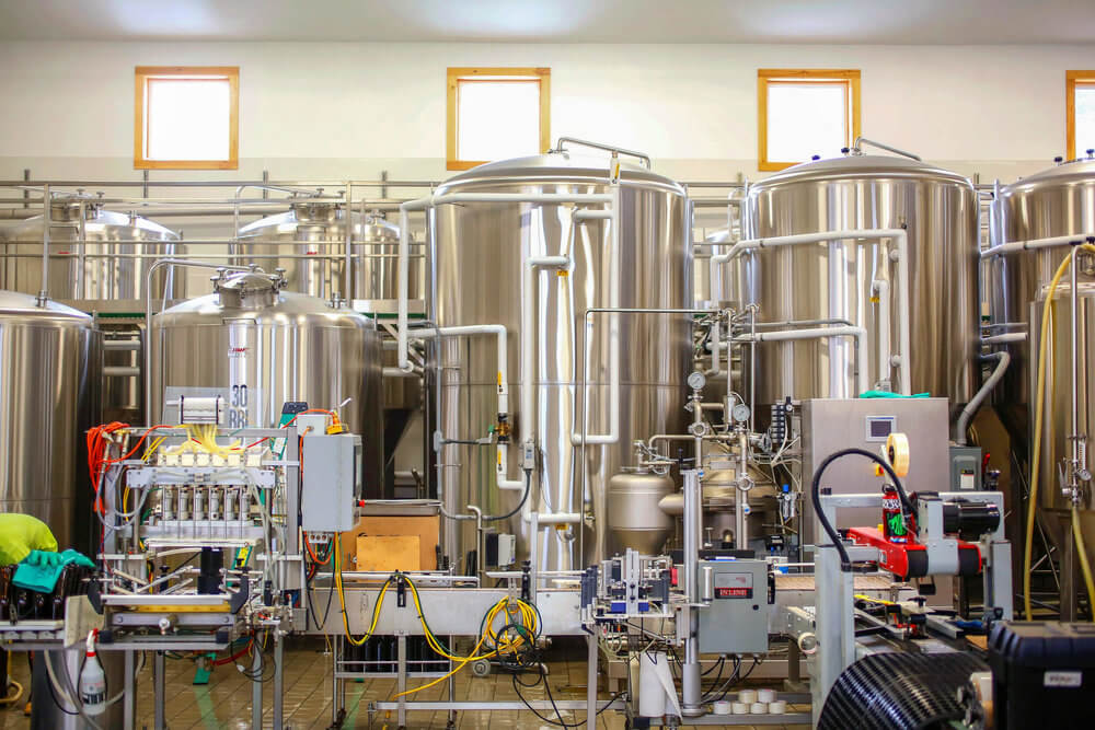 Interior Architectural Photography of Maine Beer Company brewery tanks in Freeport, Maine