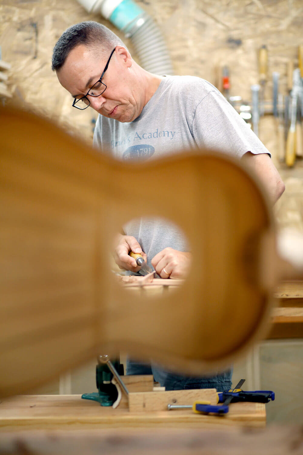 Portrait of a Maine guitar maker