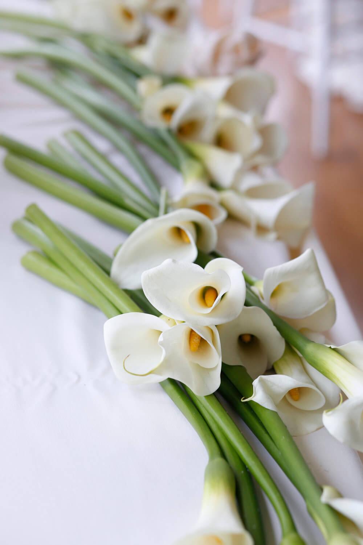 Wedding photography of the wedding flowers