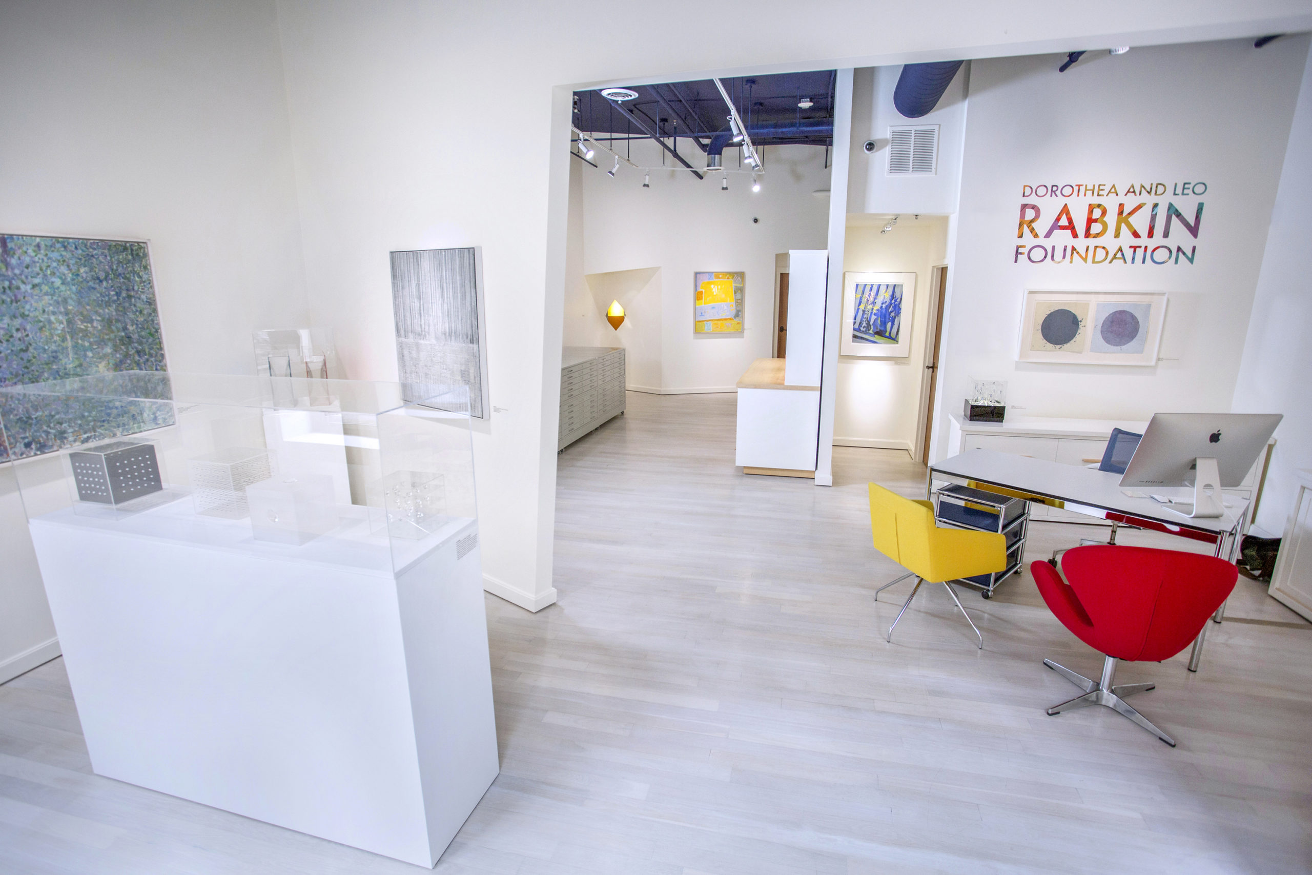 Architectural Photography of Rabkin Foundation, art displayed in the front gallery in Portland, Maine