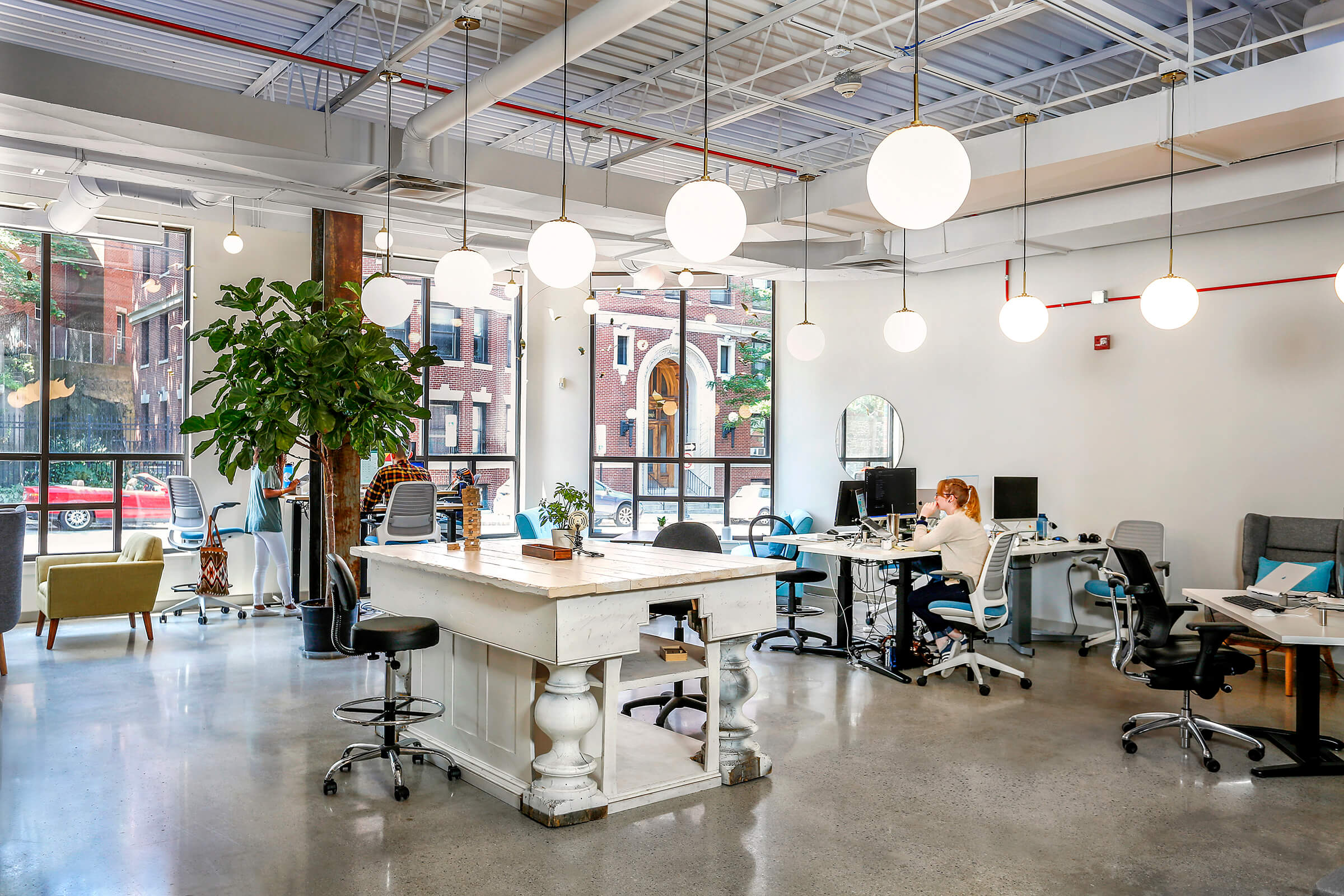 Architectural Photography of iBec Creative, the work space in Portland, Maine