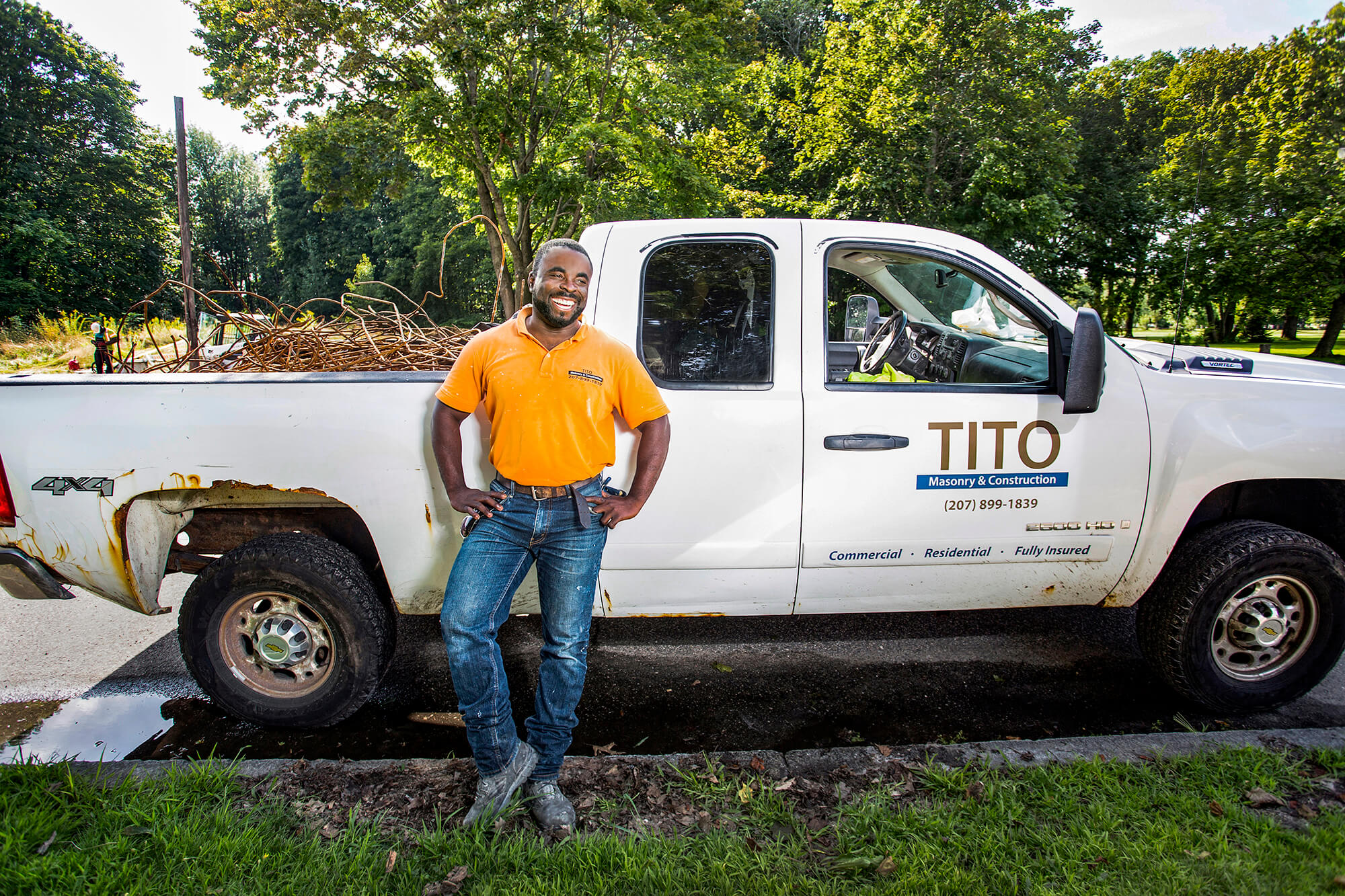 Portrait photography of Tito Masonry in Portland Maine